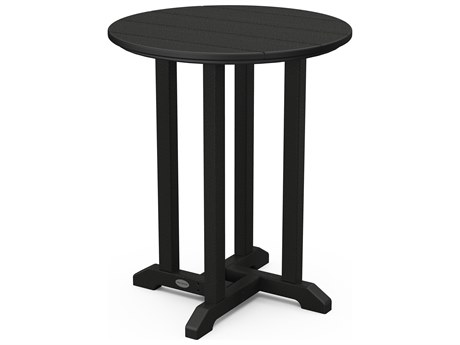 POLYWOOD® Traditional Recycled Plastic 24''Wide Round Bistro Table