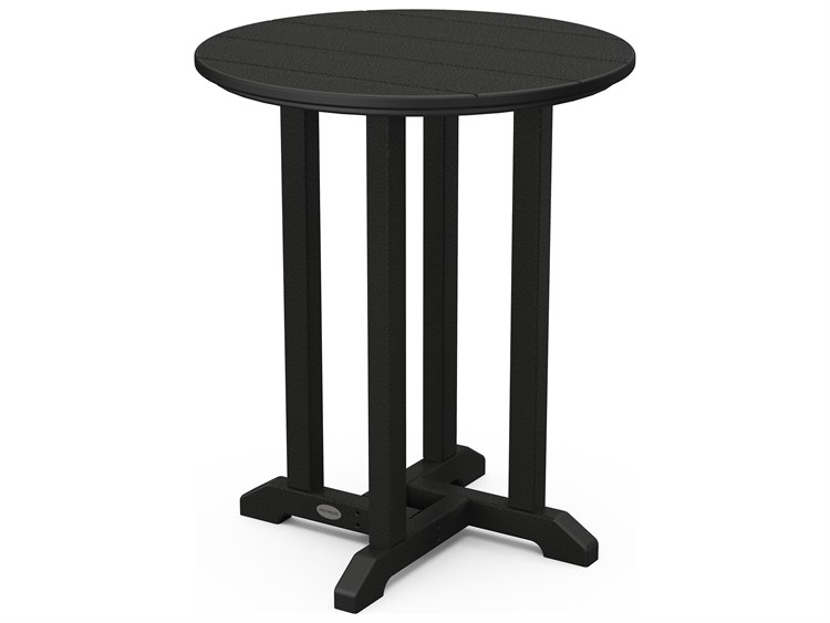 POLYWOOD® Traditional Recycled Plastic 24''Wide Round Bistro Table PatioLiving