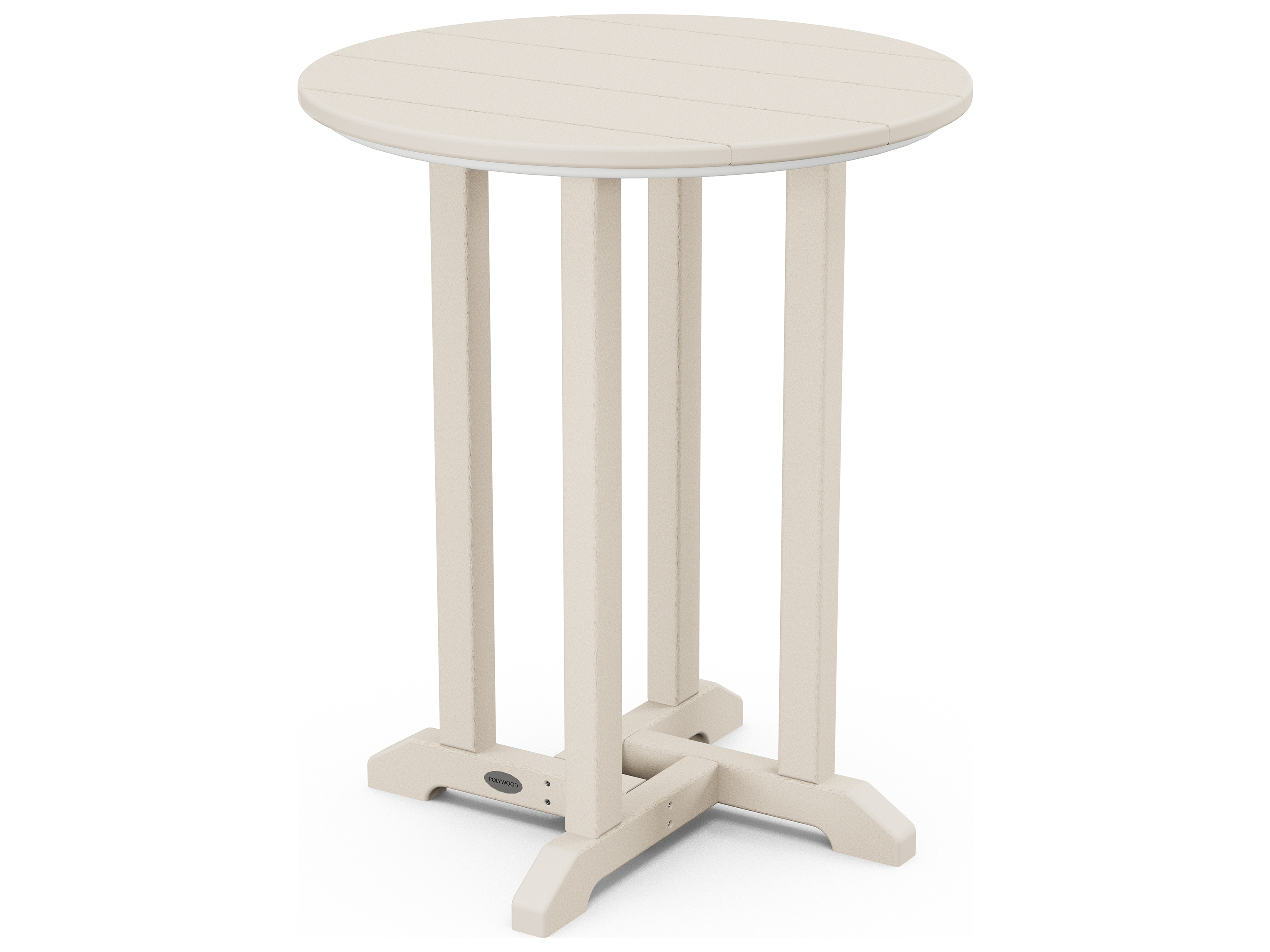Polywood 174 Traditional Recycled Plastic 24 Round Bistro
