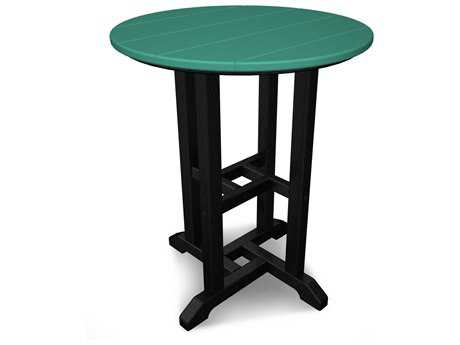 POLYWOOD® Contempo Recycled Plastic 24 Round Bistro Table