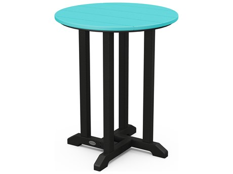 POLYWOOD® Contempo Recycled Plastic 24 Round Bistro Table PWRT224