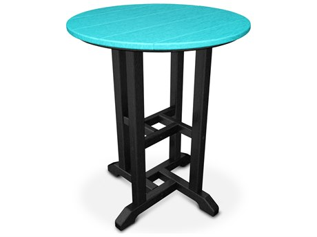 POLYWOOD® Contempo Recycled Plastic 24''Wide Round Bistro Table