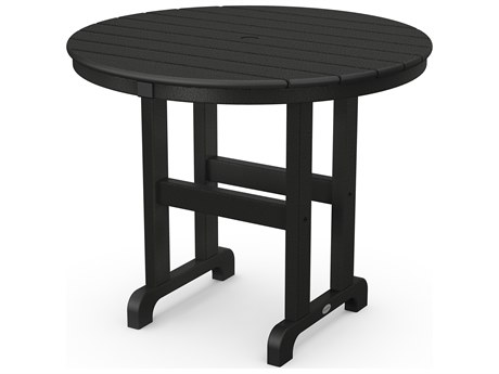 POLYWOOD® La Casa Cafe Recycled Plastic 36 Round Dining Table PatioLiving