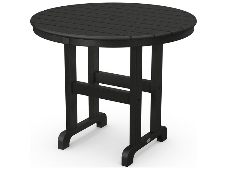 POLYWOOD® La Casa Cafe Recycled Plastic 36 Round Dining Table