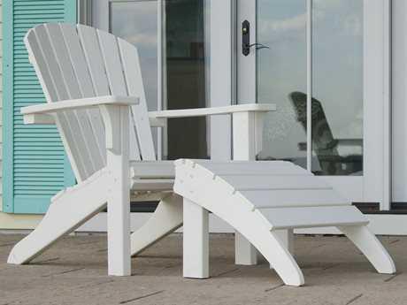 POLYWOOD® Seashell Recycled Plastic Adirondack Set