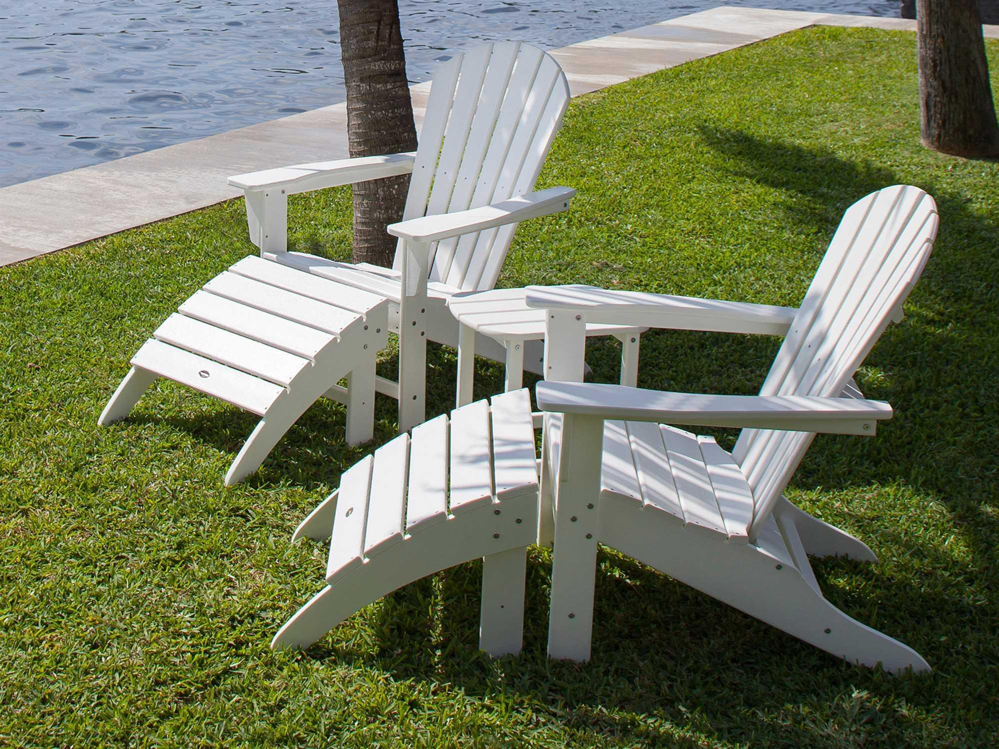 Polywood 174 Seashell Recycled Plastic Adirondack Chair Sh22