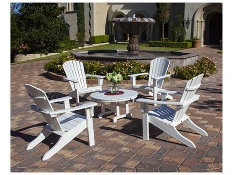 POLYWOOD® Seashell Recycled Plastic Adirondack Chair