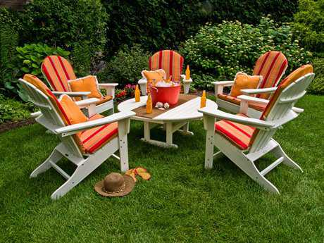 POLYWOOD® South Beach Adirondack Lounge Set