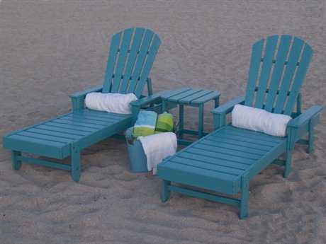 POLYWOOD® South Beach Chaise Recycled Plastic Lounge Set
