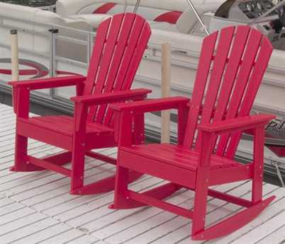 POLYWOOD® South Beach Recycled Plastic Pool Adirondack Rocker Set PWSOUTHRRC