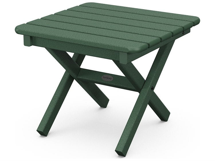POLYWOOD® Traditional Recycled Plastic 18''Wide Square End Table PatioLiving