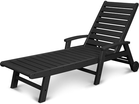 POLYWOOD® Signature Recycled Plastic Chaise Lounge with Wheels