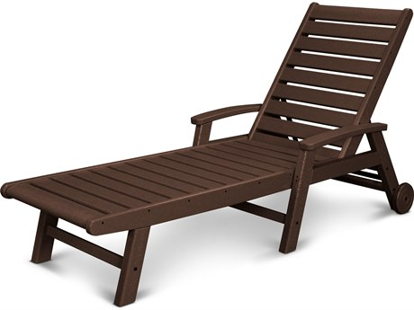 POLYWOOD® Signature Recycled Plastic Wheel Chaise Lounge