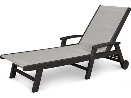 POLYWOOD® Coastal Sling Aluminum Chaise Lounge