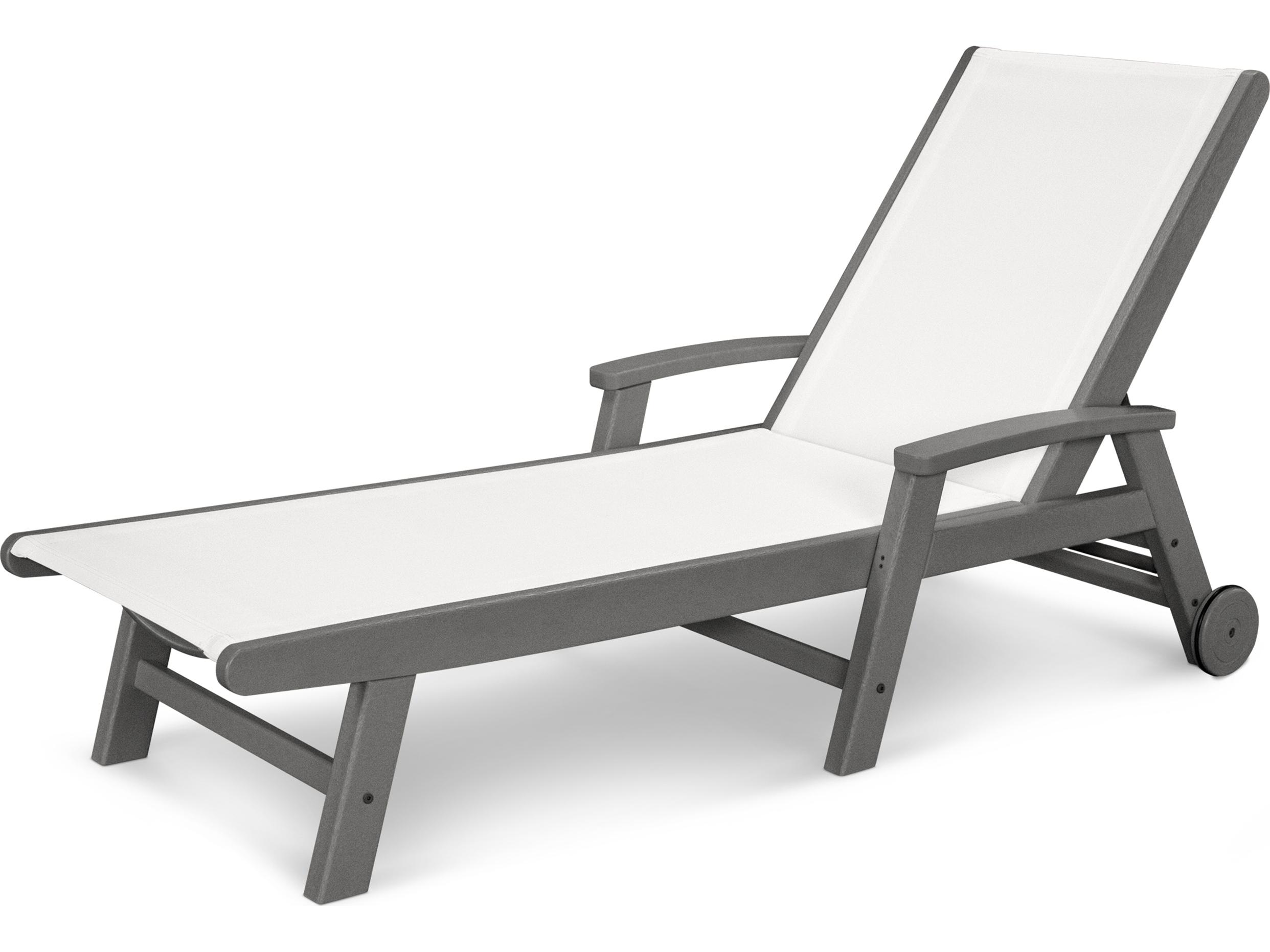 Polywood coastal sling aluminum chaise lounge sw2290 for Aluminium chaise