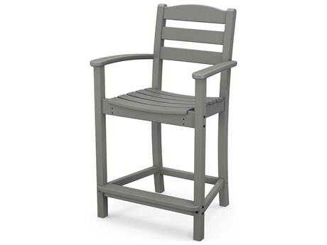 POLYWOOD® La Casa Cafe Recycled Plastic Arm Counter Stool PWTD201