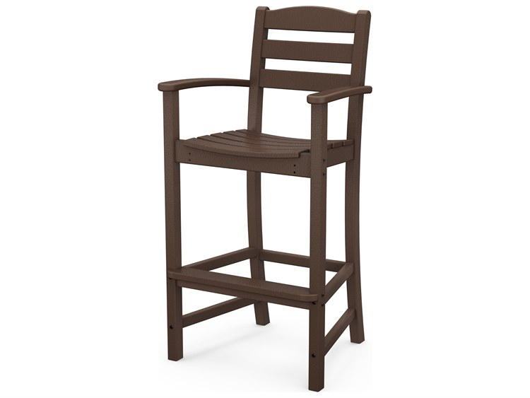 POLYWOOD® La Casa Cafe Recycled Plastic Arm Bar Stool