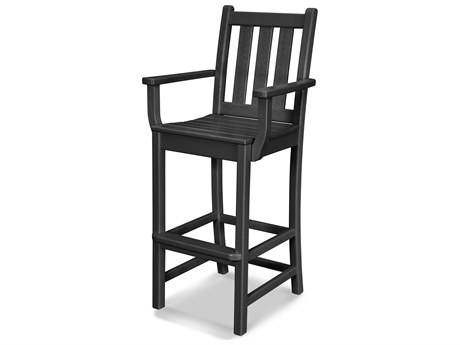 POLYWOOD® Traditional Garden Recycled Plastic Bar Stool