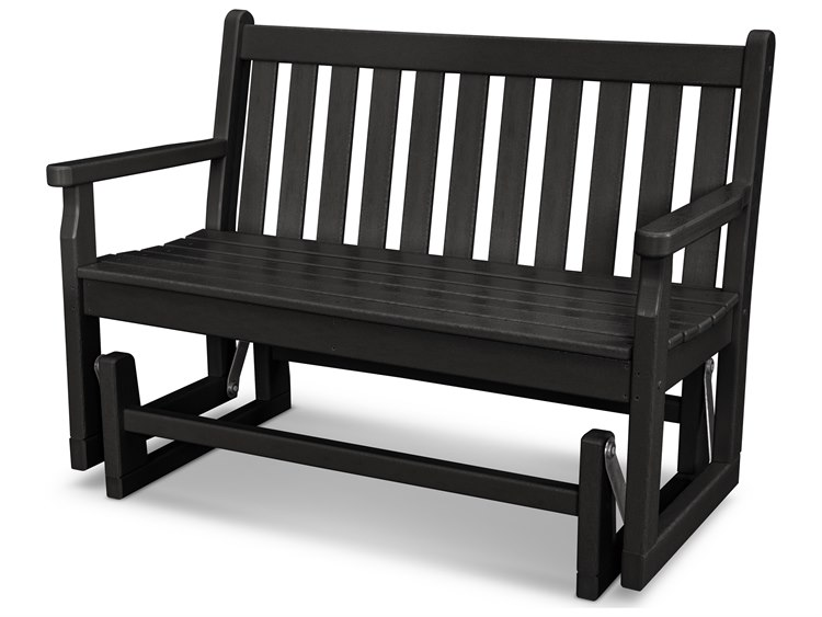 POLYWOOD® Traditional Garden Recycled Plastic Glider Bench