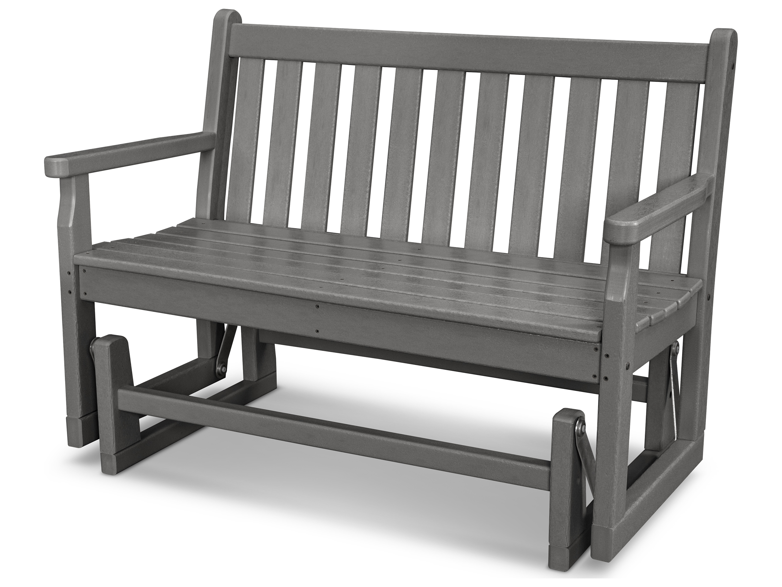 Polywood 174 Traditional Garden Recycled Plastic Glider Bench