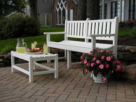POLYWOOD® Traditional Garden Recycled Plastic Bench Set