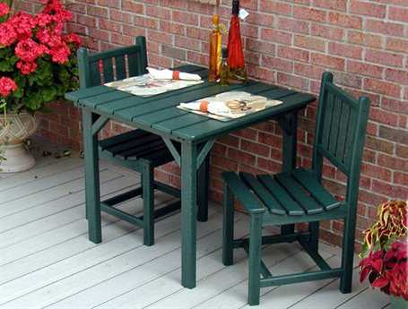 POLYWOOD® Traditional Garden Bistro Dining Set