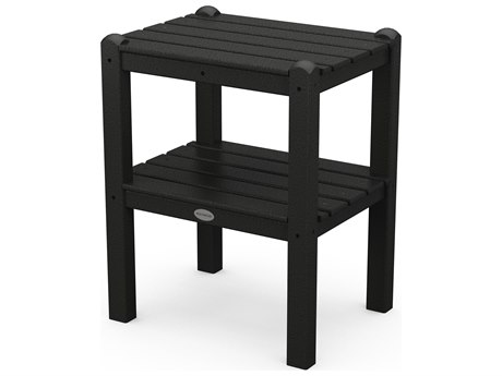 POLYWOOD® Traditional Recycled Plastic 18.5''W x 14 Rectangular End Table PatioLiving