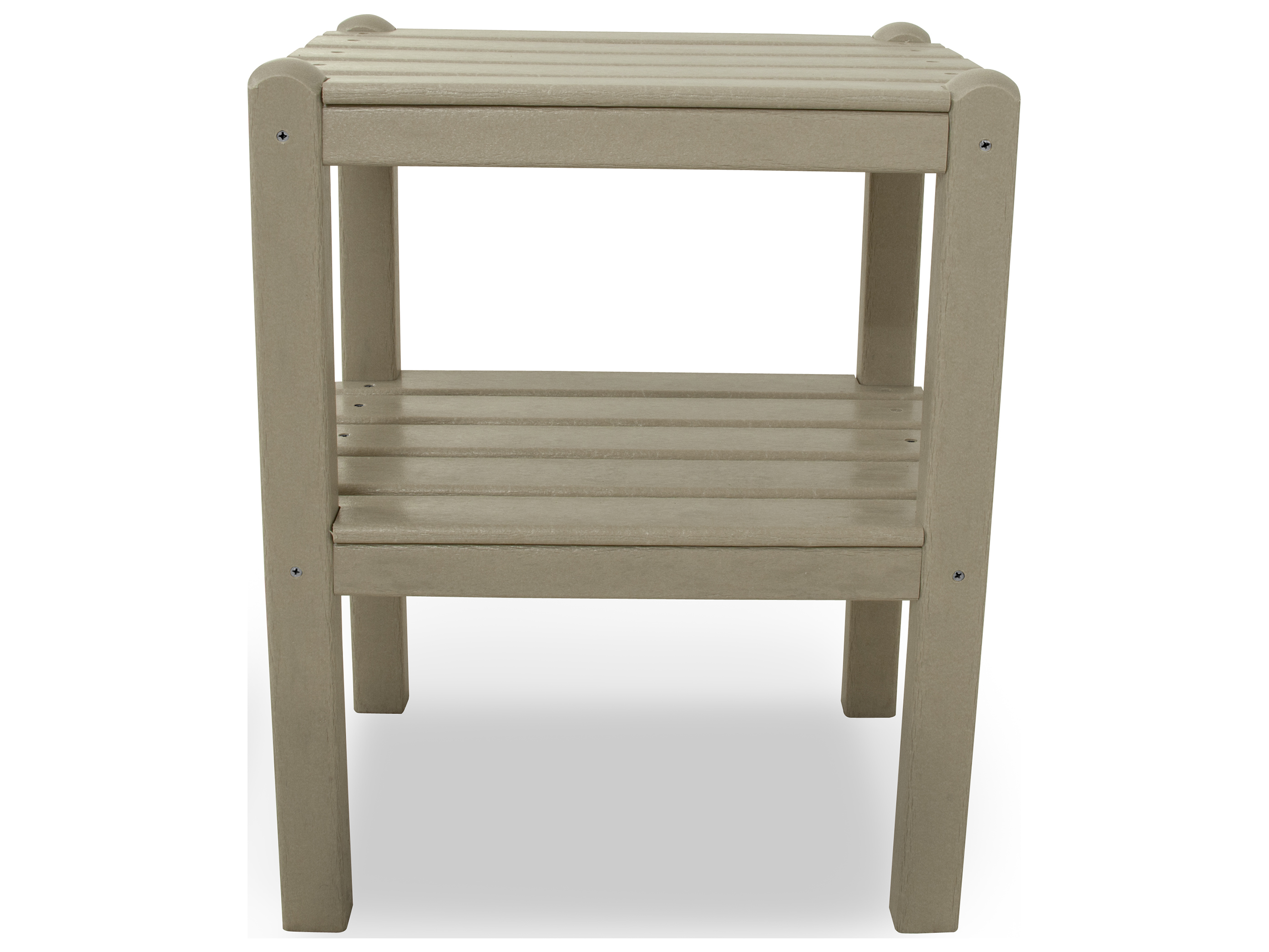 Polywood traditional recycled plastic 18 5 x 14 for 12 x 12 end table