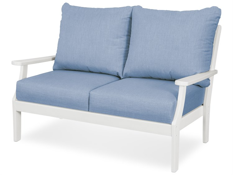 POLYWOOD® Trex Yacht Club Recycled Plastic Cushion Loveseat PatioLiving