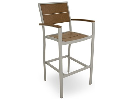POLYWOOD® Trex Surf City Aluminum Recycled Plastic Bar Stool