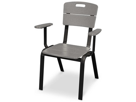 POLYWOOD® Nautic Cafe Aluminum Dining Arm Chair