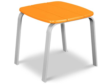 POLYWOOD® Nautic Cafe Aluminum 18.5''Wide Square Side Table