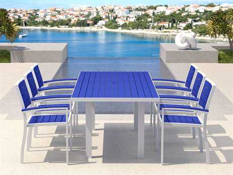 Attrayant Pool Recycled Plastic Dining Sets