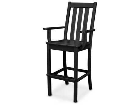 POLYWOOD® Vineyard Recycled Plastic Bar Arm Chair