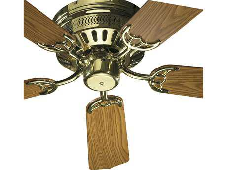 Quorum International Custom Hugger Polished Brass 42'' Wide Indoor Ceiling Fan