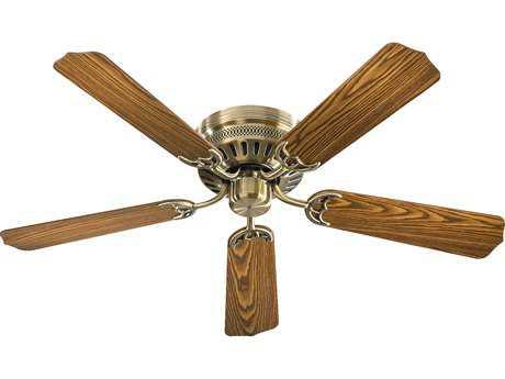 Quorum International Custom Hugger Antique Brass 42'' Wide Indoor Ceiling Fan