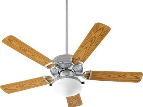 Quorum International Estate Patio Galvanized 52 Inch Outdoor Ceiling Fan with Light