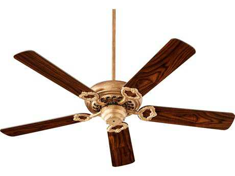 Quorum International Geometric Vintage Gold Leaf 52'' Wide Indoor Ceiling Fan with Light