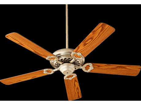 Quorum International Monticello Aged Silver Leaf Indoor Ceiling Fan