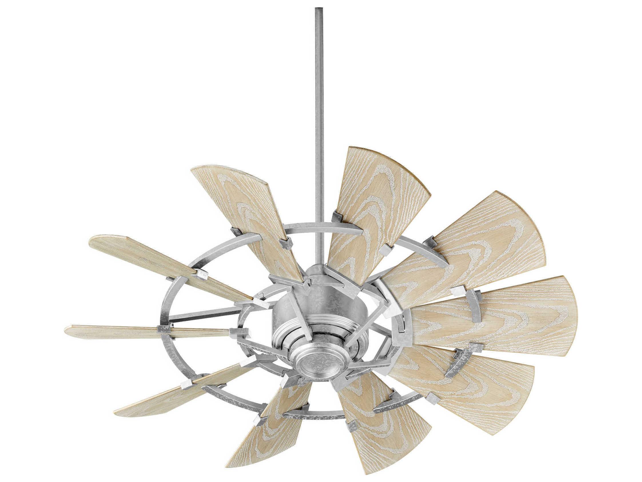 Quorum International Windmill Galvanized 44'' Wide Outdoor Ceiling ...