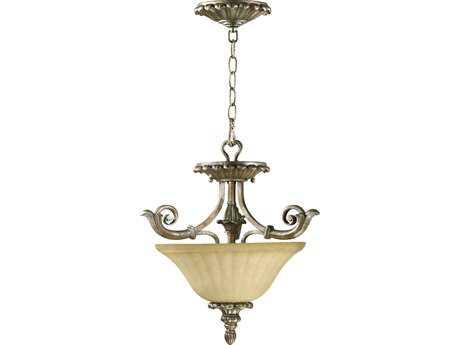 Quorum International Barcelona Mystic Silver Two-Lights Pendant Light