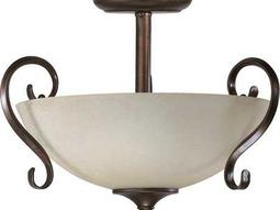 Quorum International Powell Toasted Sienna Two-Lights Pendant Light