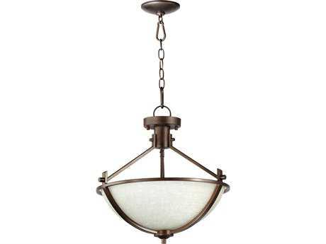 Quorum International Winslet II Oiled Bronze Three-Lights Pendant Light