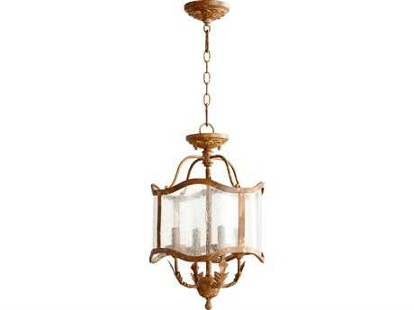 Quorum International Salento French Umber Four-Light 13'' Wide s Mini Chandelier