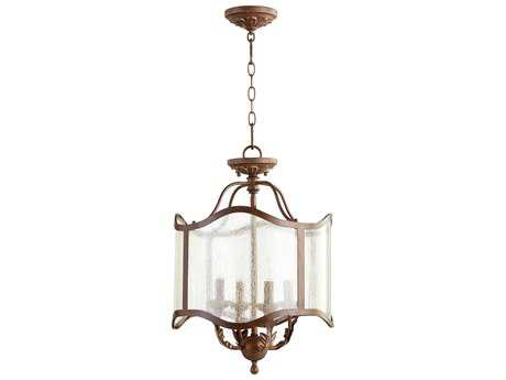 Quorum International Salento Vintage Copper Four-Light 16'' Wide Pendant Light