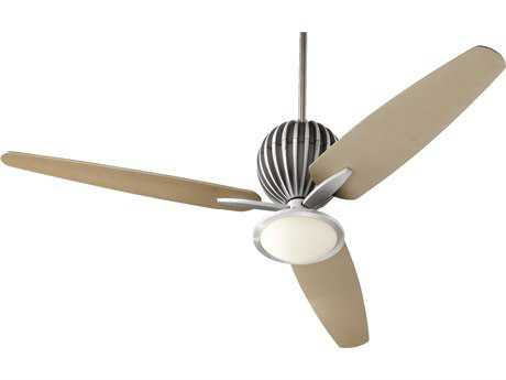 Quorum International Brushed Aluminum 60 Inch Indoor Ceiling Fan with Light