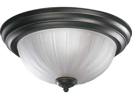 Quorum International Old World Three-Lights Flush Mount Light