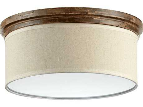 Quorum International Telluride Early American Three-Lights Flush Mount Light