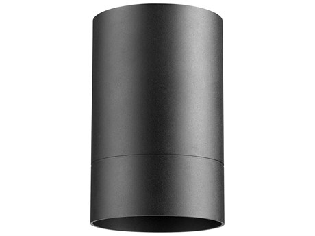 Quorum International Cylinder Noir 4'' Wide Outdoor Flush Mount Light