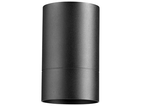 Quorum International Cylinder Noir 6'' Wide Outdoor Flush Mount Light